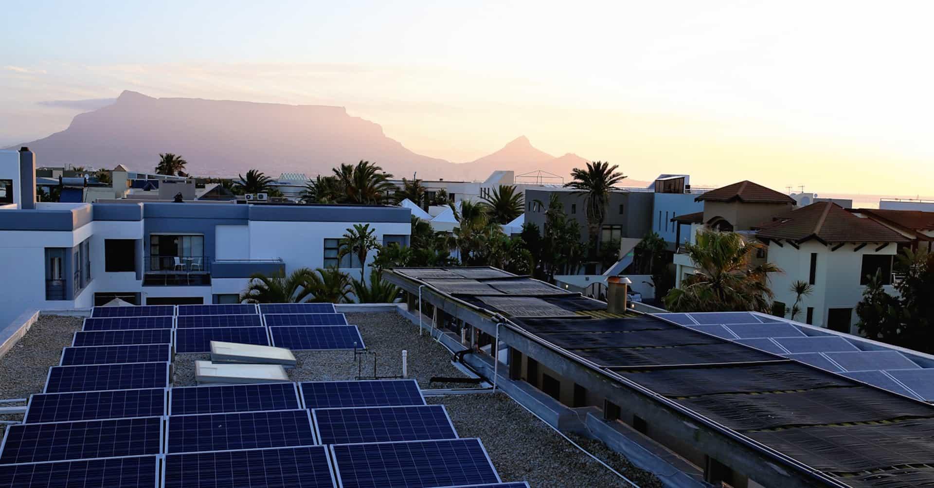 Blick auf Tafelberg vom da heim Guesthouse Kapstadt