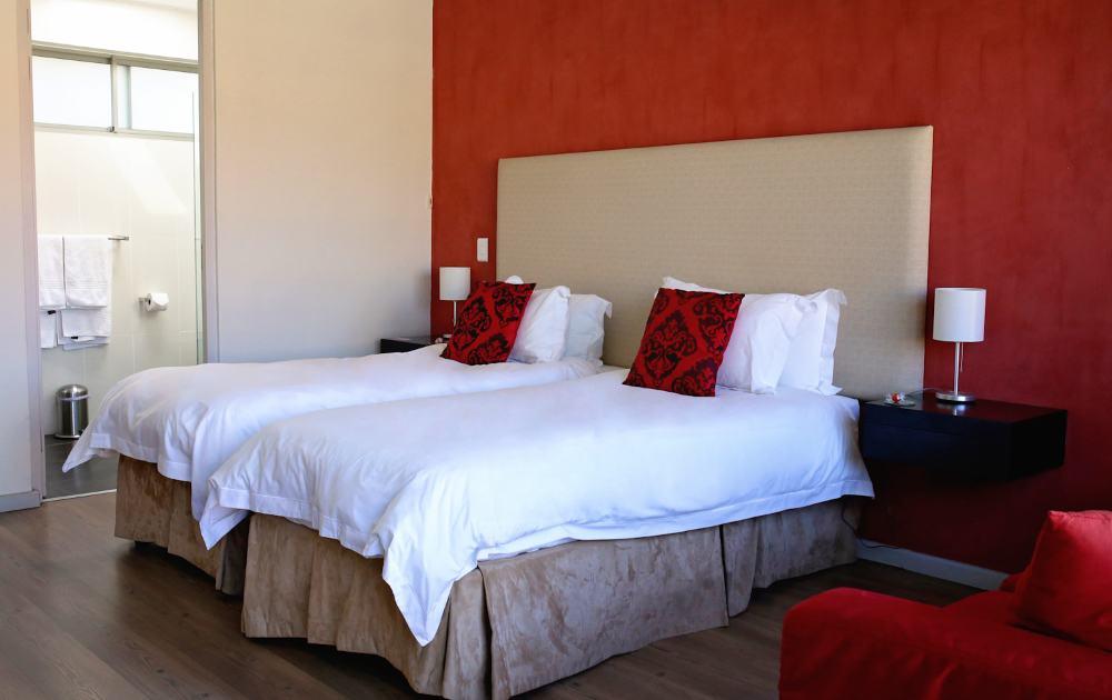 Zwei Einzelbetten stehen im Appartement zur Verfügung - two single beds in apartment